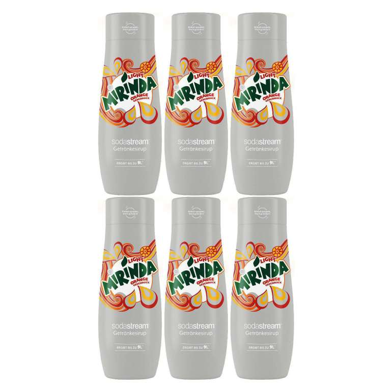 Sodastream Sirup Mirinda Diet (440 ml) im 6er Pack für 14,99€ inkl. Versand (statt 25€)