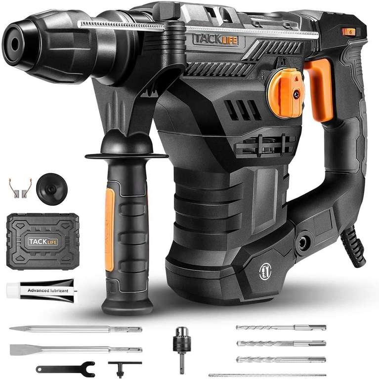 Tacklife Bohrhammer (1500W, SDS-Plus, 7J Schlagstärke, inkl. 12-teiligem Bohrer- & Meißelset) je 79,99€ inkl. Versand