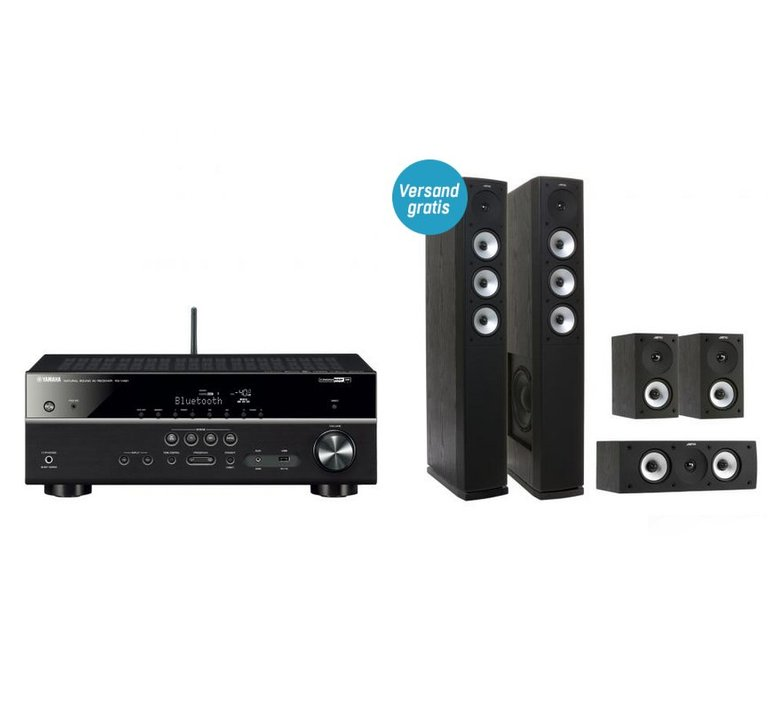 yamaha rx v481 5 1 av receiver jamo s 628 hcs 3 5 0. Black Bedroom Furniture Sets. Home Design Ideas