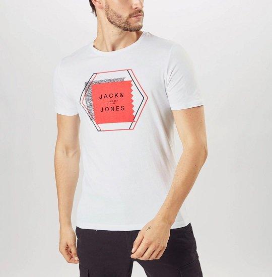 About You: Großer Jack & Jones T-Shirt Sale, z.B. Booster in Weiß für 7,57€ (statt 12€)