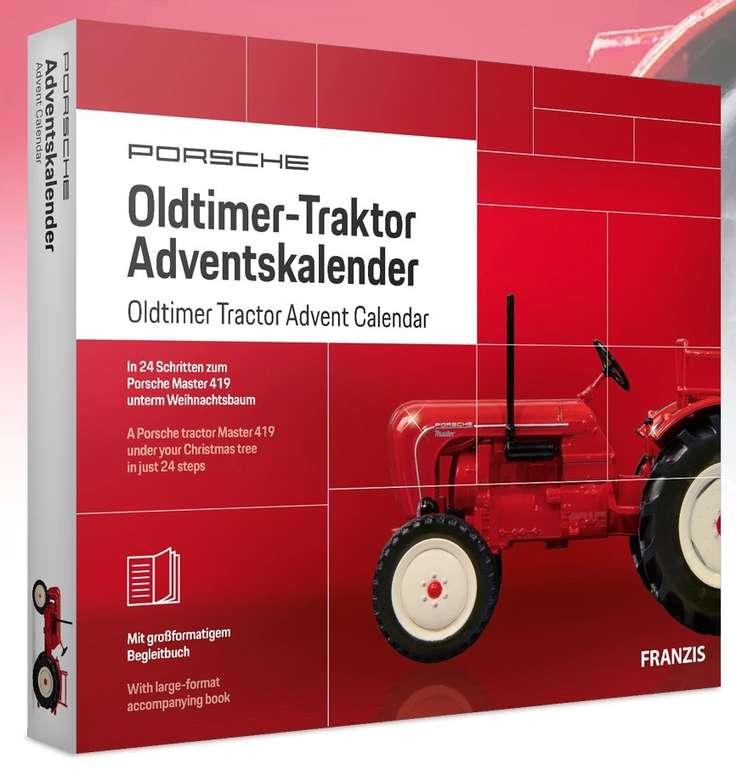 Für Sammler und Modellbau-Liebhaber: Franzis Porsche Oldtimer-Traktor Adventskalender für 25€ (statt 30€)