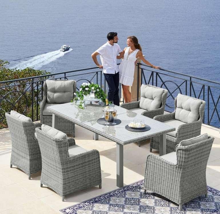 """Konifera Gartenmöbelset """"Miami"""" aus Polyrattan (6 Sessel + Tisch) für 729,94€ inkl. Versand (statt 1000€)"""