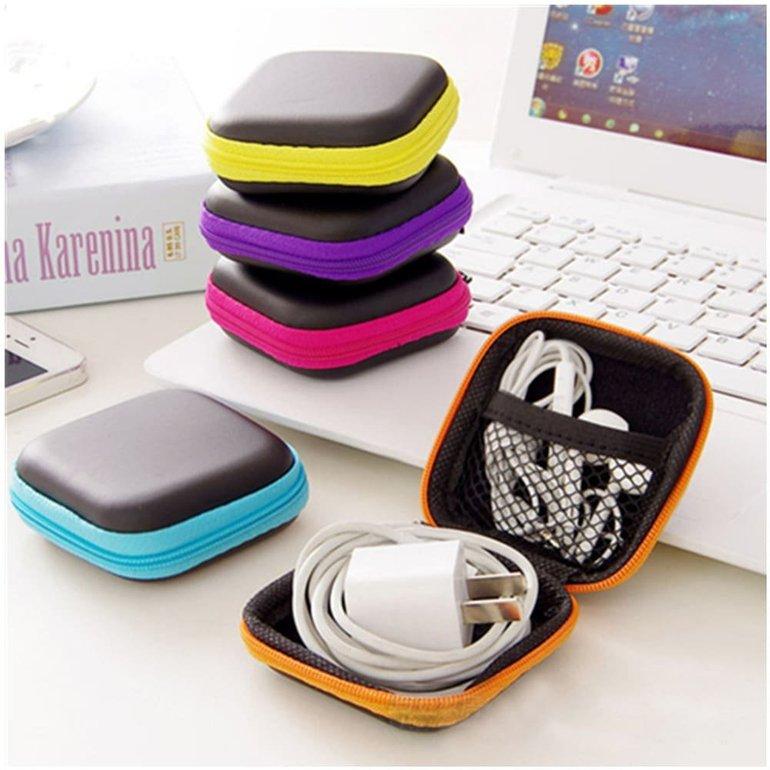 Mini Zipper Hard Case PU Storage Bag (Aufbewahrungstasche) für 0,85€ (statt 2€)
