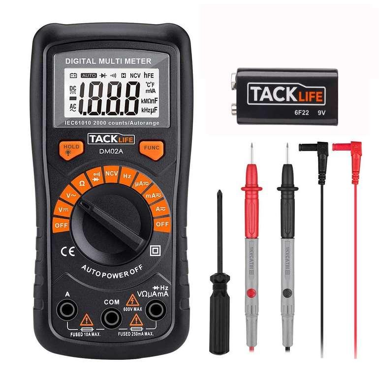 Tacklife DM02A Digital Multimeter für 9,99€ inkl. Prime Versand (statt 20€)