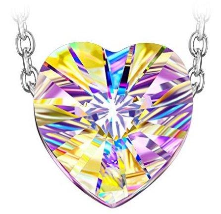Susan Y Aurora Damen Halskette mit Swarovski Herz in Silber für 9,99€ (Prime)