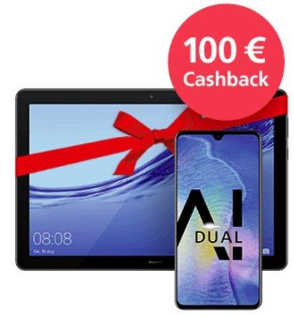 o2 Free M AllNet mit 10GB LTE + Huawei Mate20 + MediaPad + 100€ Cashb. 36,99 mtl
