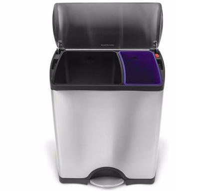 SimpleHuman Recycler - Tretmülleimer mit 46 Liter Volumen für 117,90€ inkl. VSK