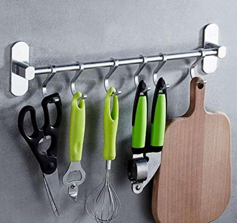 Lebexy Aluminium Küchen-Hängeleiste für bis zu 6 Utensilien nur 7,99€ (statt 13€) - Prime!