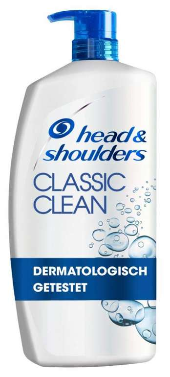 4x Head & Shoulders Classic Clean XXL (900 ml) für 26,85€ inkl. Prime Versand (statt 36€)