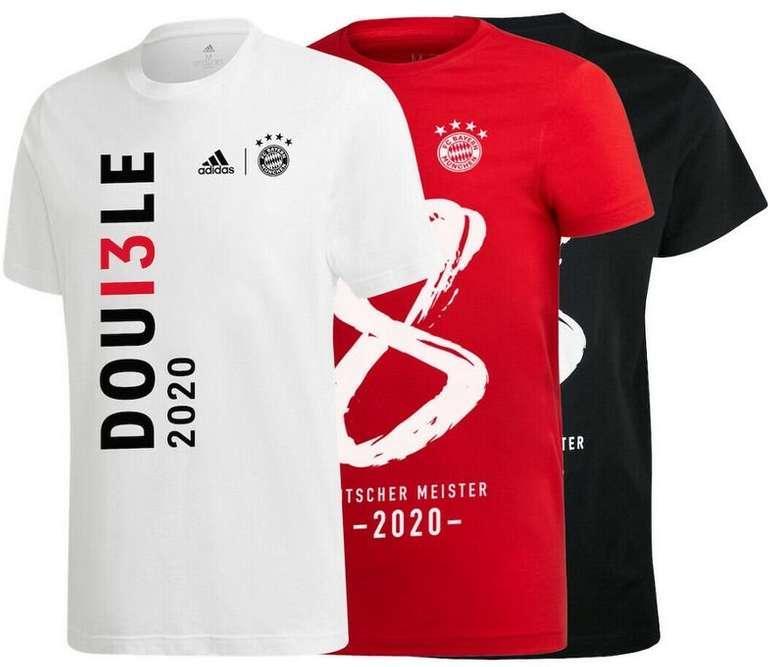 """Adidas Bayern München """"Double 2020"""" T-Shirt für 22,95€ inkl. Versand (statt 25€)"""