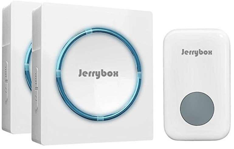 Jerrybox Funkklingel mit 2 Empfängern nur 7,99€ inkl. Prime-Versand