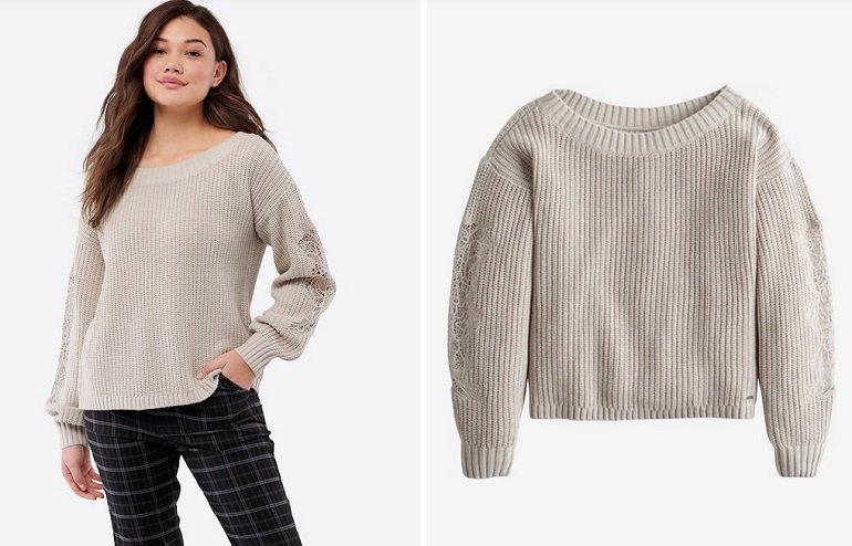 Hollister Pullover Stitch Vneck Sweater 3CC 2