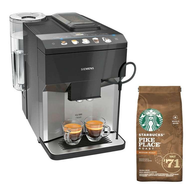Siemens TP503D04 EQ.500 Classic Kaffeevollautomat + Starbucks Kaffee für 449,91€