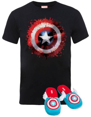 Marvel Captain America T-Shirt & Slippers Bundle für 14,99€ inkl. Versand (statt 30€)