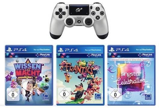 PS4 DualShock 4 (2016) Controller im Gran Turismo Sport Design + 3 Spiele zu 39€
