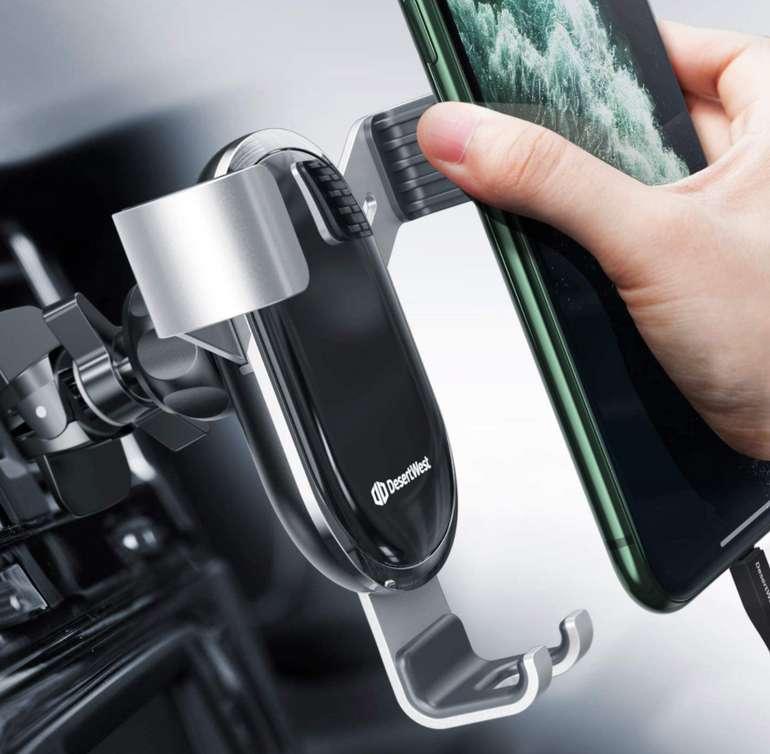 DesertWest Handyhalterung Auto Lüftung in Silber für 8,49€inkl. Prime Versand (statt 17€)