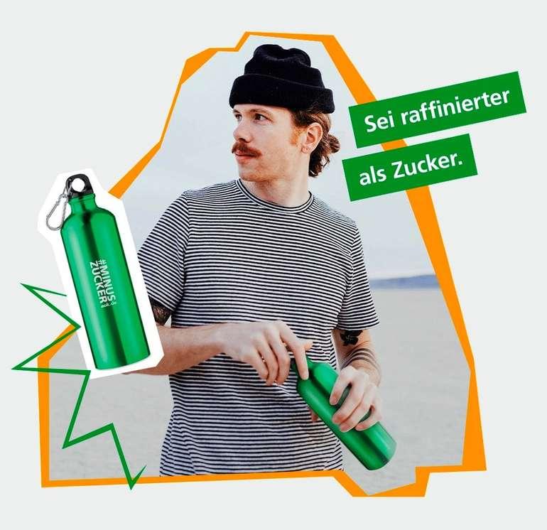 AOK-Challenge #minusZucker: Gratis Metall-Trinkflasche erhalten