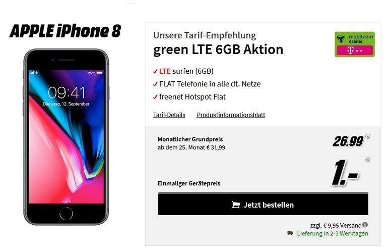 Apple iPhone 8 Telekom Allnet