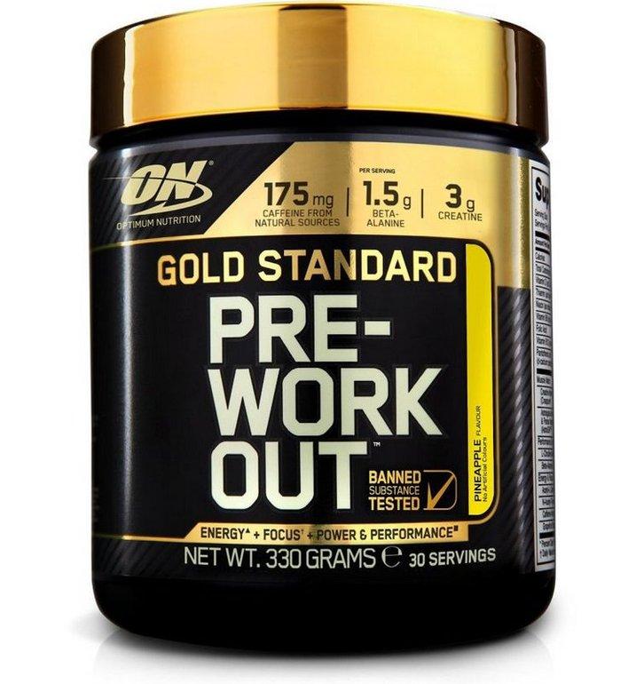 330g Gold Standard Pre-Work Out - Ananas für 9,09€ (statt 19€) - MHD-Ware!