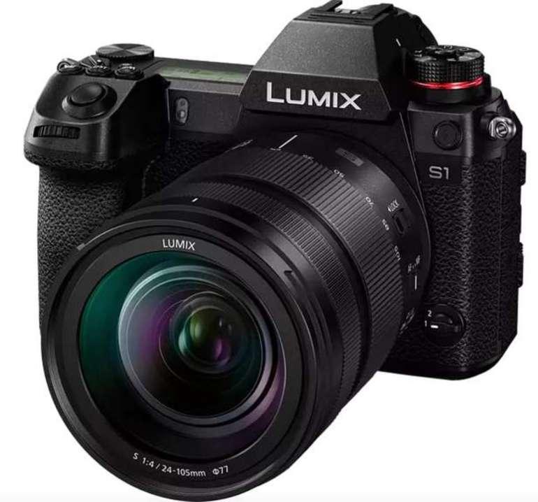 Panasonic Lumix DC-S 1 Kit Systemkamera mit Objektiv 24-105 mm f/4, Touchscreen und WLAN für 2499€