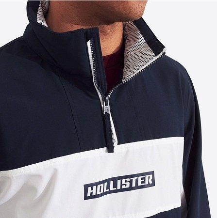 Hollister Jacke 'Mesh Lined Mock Neck WB' für 38,17€ inkl. VSK