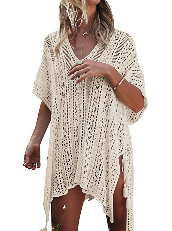 Gestricktes Strandkleid von Haigou für 11,89€ inkl. Versand (Prime)