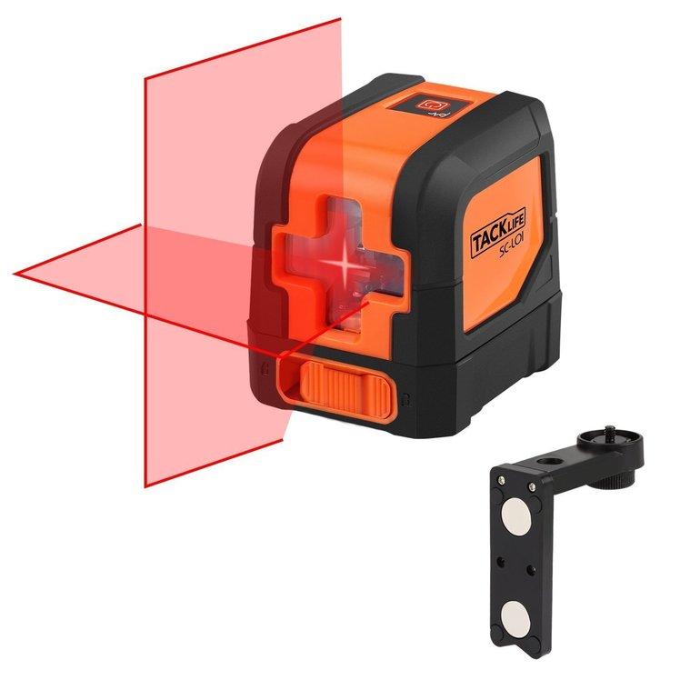 Tacklife SC L01 - Klassischer Kreuzlinien- Laser mit 10m Messbereich für 27,99€