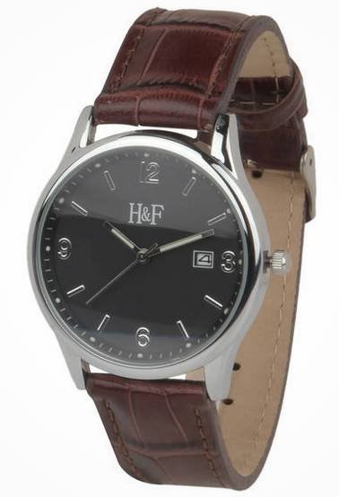 H&F Herrenuhr mit Lederarmband für 11,94€ inkl. Versand (statt 29€)