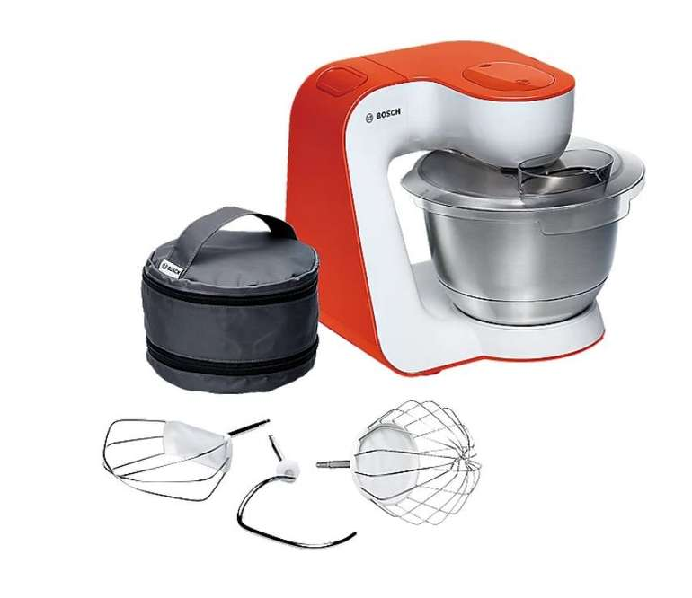 Bosch MUM54I00 Universal-Küchenmaschine StartLine in Weiß/Orange für 109,89€ inkl. Versand (statt 145€)