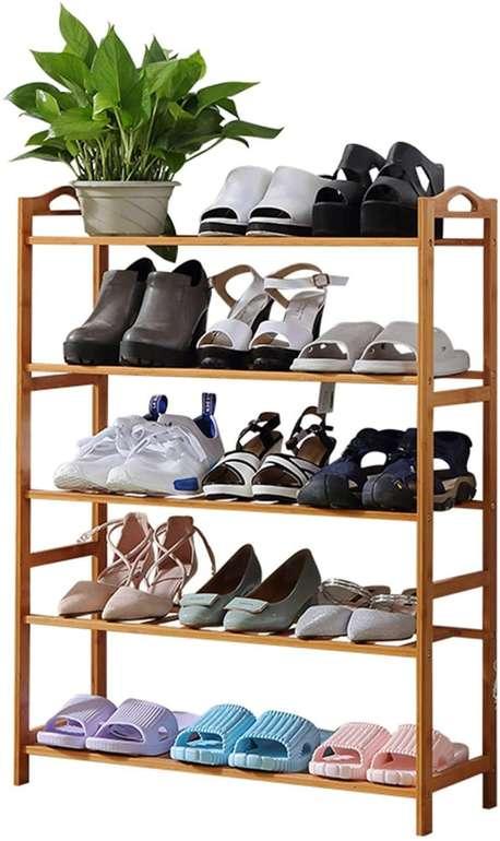 Wolketon Schuhregal mit 5 Etagen (Platz für ca. 15 Paar Schuhe) nur 21,69€ inkl. Versand (statt 31€)