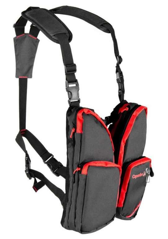 Caperlan Angler Brusttasche in Rot/Grau für 13,98€ inkl. Versand (statt 28€)