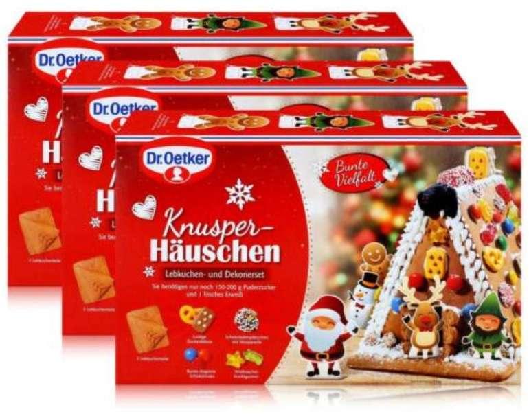 3er Pack Dr. Oetker Knusper-Häuschen bzw. Lebkuchenhäuser (je 403g) für 22,43€ inkl. Versand (statt 30€)
