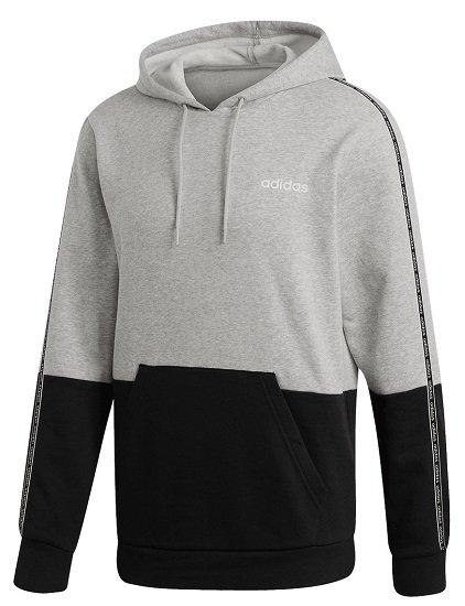 adidas Celebrate 90´s Colorblock Fleece Kapuzenpullover in Grau/Schwarz für 27,95€ (statt 57€)