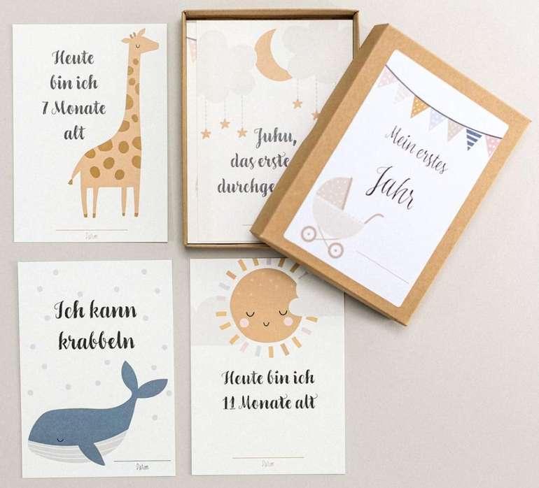Familiensache Baby Meilensteinkarten (für Jungen & Mädchen) für 11,95€ inkl. Prime Versand