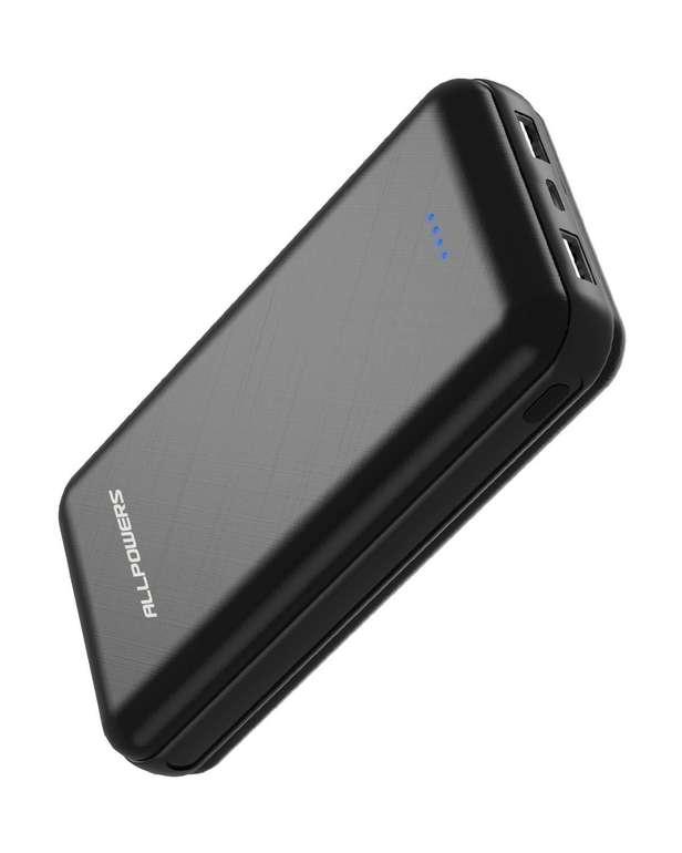 Allpowers Powerbank mit 24000mAh (USB C & Micro USB) für 12,99€ (Prime)