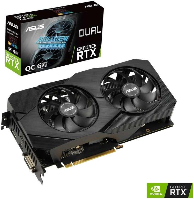 Asus GeForce RTX 2060 Dual Evo OC 6GB Grafikkarte für 449,99€ inkl. Versand (statt 549€) - Newsletter Gutschein