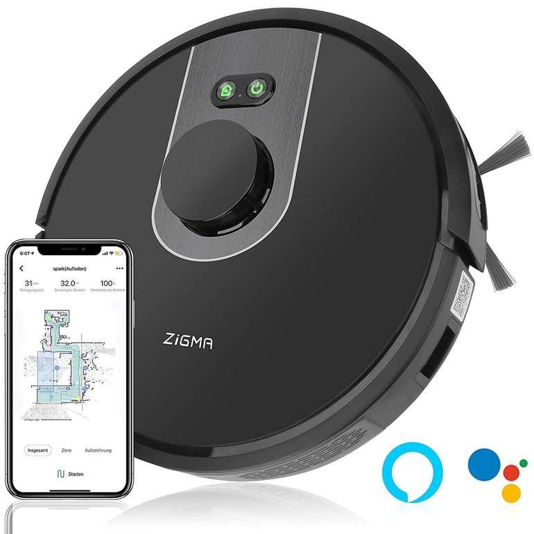 Zigma Spark Saugroboter mit Wischfunktion, LDS Navigation und APP-Steuerung für 280,38€