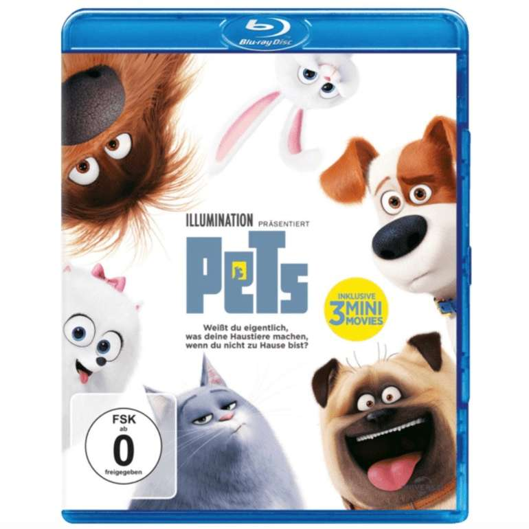 PETS auf Blu-ray für 5€ inkl. Versand (Vergleich: 10€)