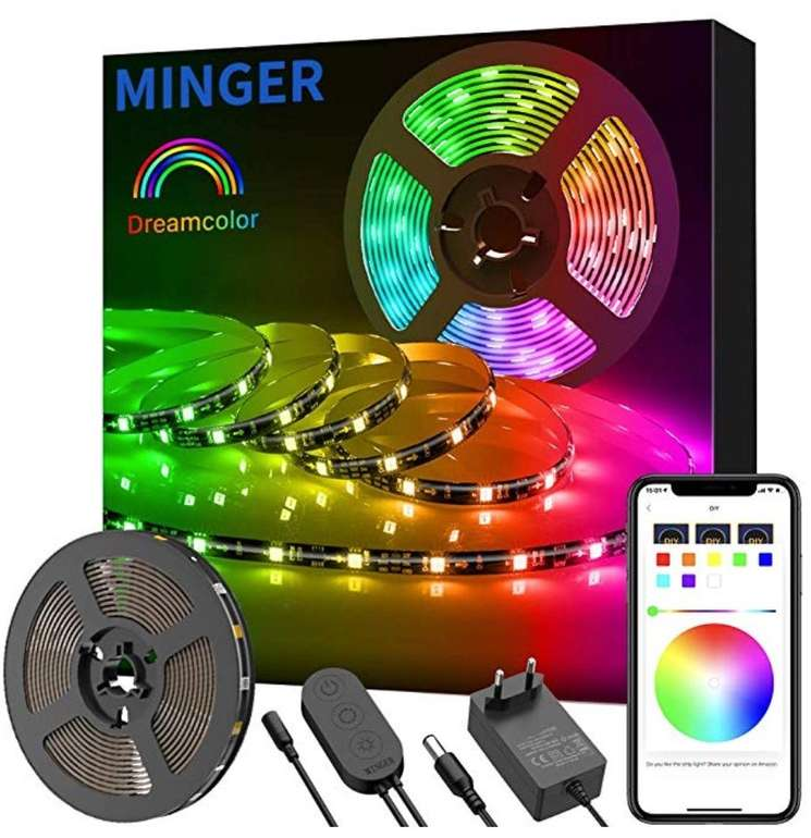 5m Minger DreamColor LED Streifen mit Musik Sync für 22,09€ inkl. Versand
