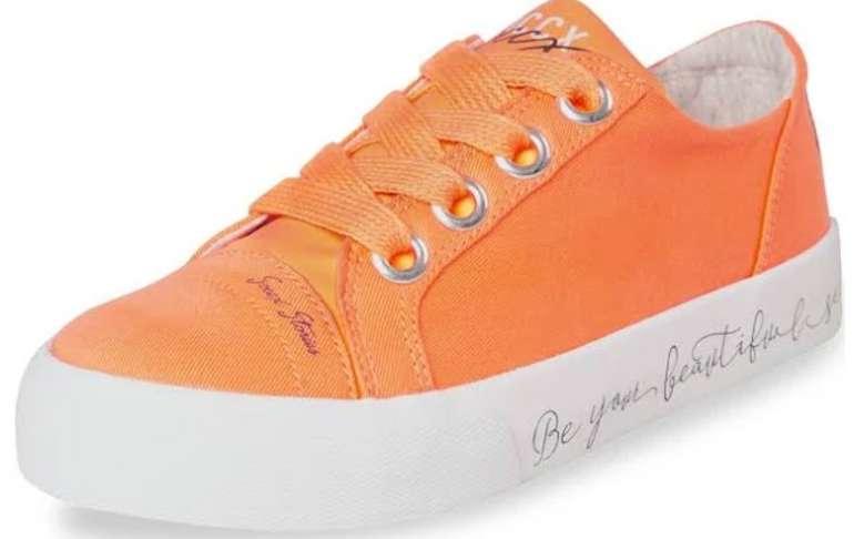 Soccx Veganer Plateau-Sneaker in orange / weiß für 31,97€ inkl. Versand (statt 44€)