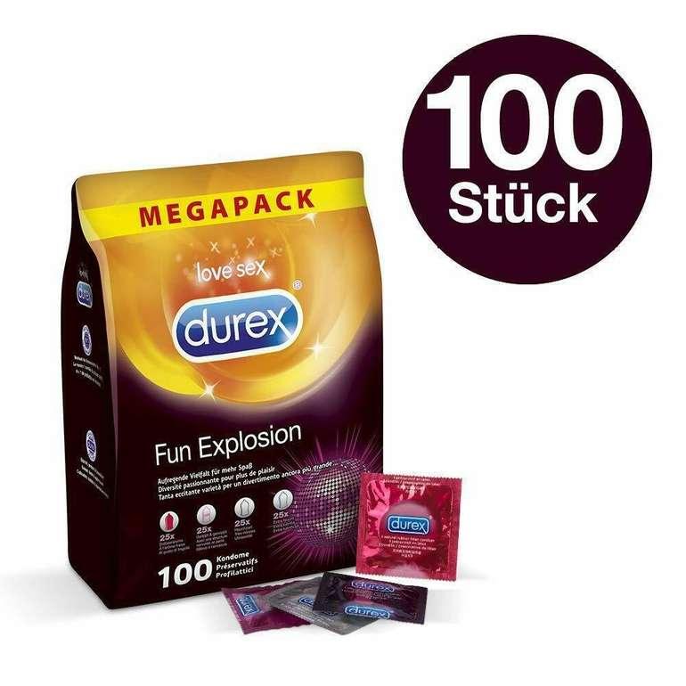 100er Pack Durex Fun Explosion Kondome (4 aufregende Sorten) für 29,99€ oder 200er Pack für 49,98€
