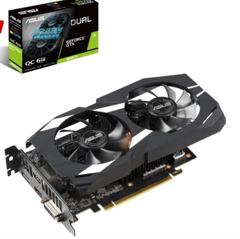 Asus GeForce GTX 1660 Ti Dual OC 6GB (90YV0CT2-M0NA00) NVIDIA Grafikkarte für 255€