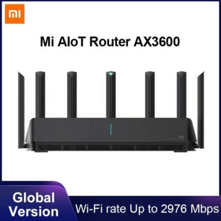 Xiaomi Mi AIoT AX3600 Router (6-Core-Chip, Dual-Frequenz WiFi, Glob. Version) für 68,85€ (statt 99€)