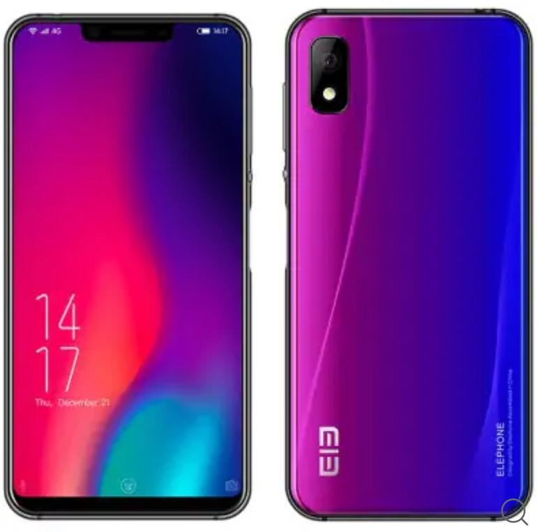 "Elephone A4 Pro - 5,85"" Smartphone (4GB Ram, 64GB, Android 8.1) für 123,06€"