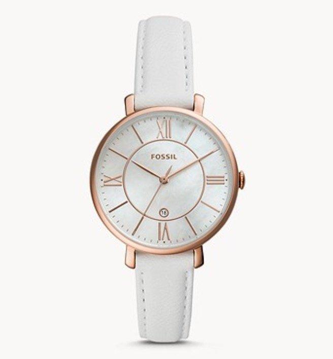 Fossil ES4579 - Damenuhr Jacqueline (3-Zeiger/Datum, Leder-Armband) für 42€ inkl. Versand (statt 85€)