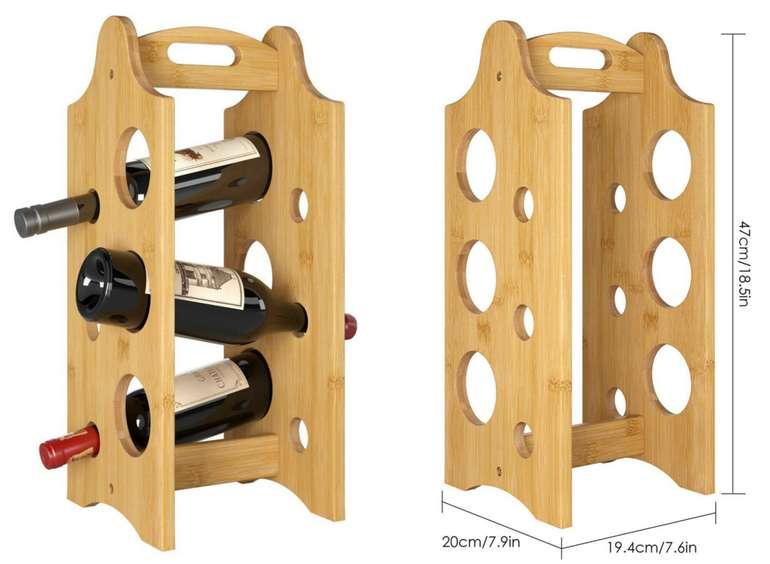 2x Bambus Weinflaschen-Halter 6 Flaschen-Regal für 15,89€inkl. Versand (statt 25€)