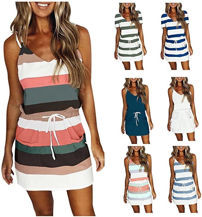 Ylzsx Damen Kleid in 15 Farben ab 7,99€ inkl. Versand (statt 10€)