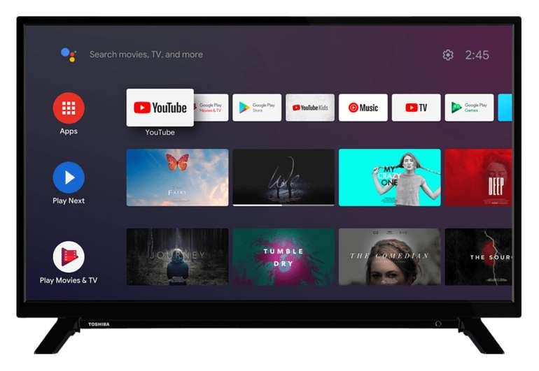 Toshiba 24 WA 2063 DA MB171 TV mit 24 Zoll (HD-ready, SMART TV, Android TV) für 149€ inkl. Versand (statt 173€)