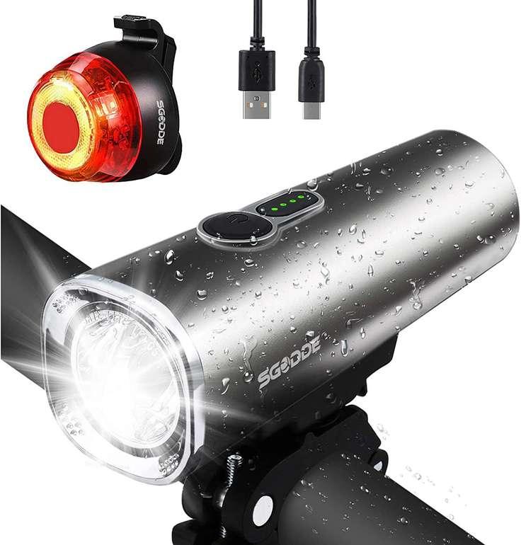 Sgodde LED Fahrradlicht Set mit USB-Aufladung für 16,11€ inkl. Versand (statt 20€)