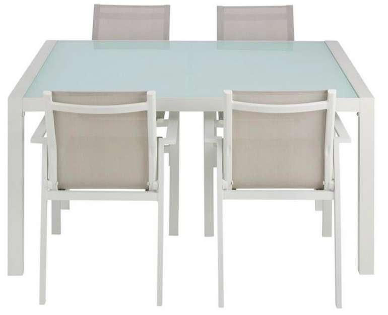 Dining-Loungeset Cancun 5-teilig (Tisch und 4 Stühle)